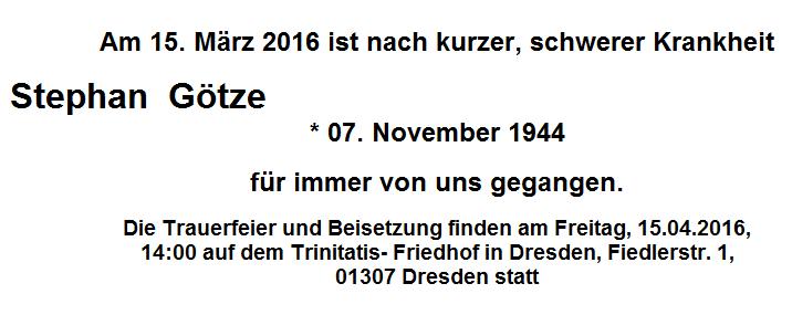 160315 Tod Stephan Götze