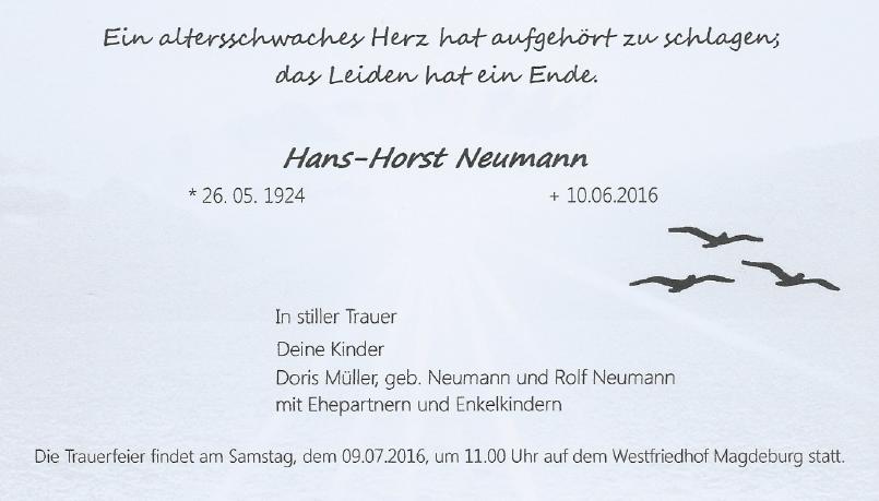 160610 Horst Neumann