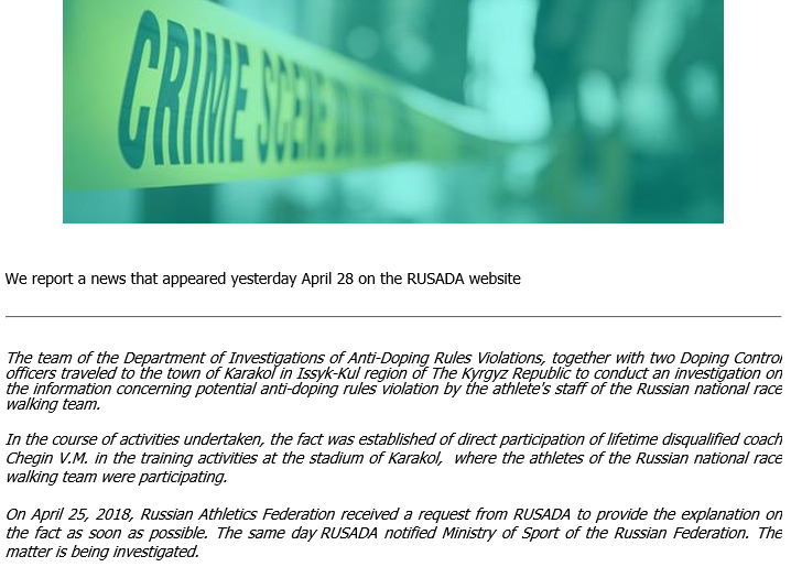 180428 Crime on RUSADA
