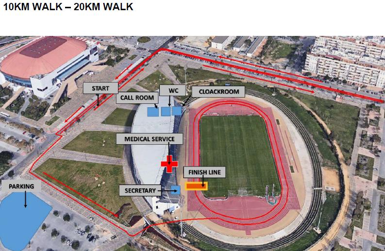 180910 Malaga Stadion mit Geherstrecke
